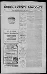 Sierra County Advocate, 1911-04-28 by J.E. Curren