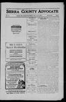 Sierra County Advocate, 1911-05-19 by J.E. Curren