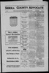 Sierra County Advocate, 1911-08-18 by J.E. Curren
