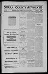 Sierra County Advocate, 1911-09-08 by J.E. Curren