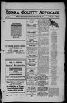 Sierra County Advocate, 1911-10-20 by J.E. Curren