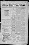 Sierra County Advocate, 1911-11-10 by J.E. Curren