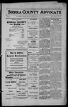 Sierra County Advocate, 1912-07-12 by J.E. Curren
