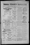 Sierra County Advocate, 1912-07-19 by J.E. Curren