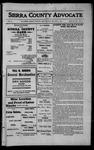 Sierra County Advocate, 1912-08-09 by J.E. Curren