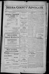 Sierra County Advocate, 1912-08-30 by J.E. Curren