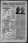 Sierra County Advocate, 1912-10-18 by J.E. Curren