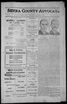 Sierra County Advocate, 1912-10-25 by J.E. Curren