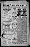 Sierra County Advocate, 1912-11-01 by J.E. Curren
