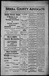 Sierra County Advocate, 1912-11-29 by J.E. Curren