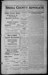 Sierra County Advocate, 1912-12-20 by J.E. Curren