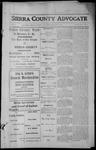 Sierra County Advocate, 1913-07-25 by J.E. Curren
