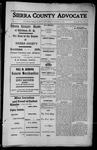 Sierra County Advocate, 1913-08-15 by J.E. Curren
