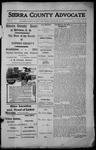 Sierra County Advocate, 1913-11-28 by J.E. Curren