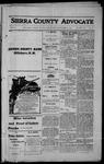 Sierra County Advocate, 1914-09-25 by J.E. Curren