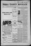 Sierra County Advocate, 1915-07-30 by J.E. Curren