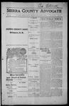 Sierra County Advocate, 1915-08-13 by J.E. Curren