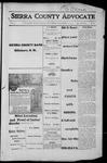 Sierra County Advocate, 1915-12-10 by J.E. Curren