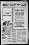 Sierra County Advocate, 1916-10-13 by J.E. Curren