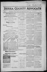 Sierra County Advocate, 1917-09-07 by J.E. Curren