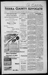 Sierra County Advocate, 1917-09-28 by J.E. Curren