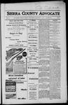 Sierra County Advocate, 1917-10-12 by J.E. Curren