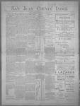 San Juan County Index, 07-28-1899