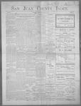 San Juan County Index, 04-27-1900