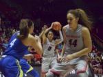 Women's Basketball: UNM Lobos vs. BYU Cougars, January 2, 1997