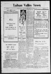 Taiban Valley News, 09-27-1918 by J. N. Crenshaw