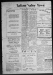 Taiban Valley News, 07-30-1920 by J. N. Crenshaw