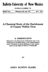 A chemical study of the enrichment of copper sulfide ores.
