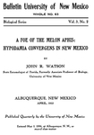 A foe of the melon aphis : Hypodamia convergens in New Mexico by J. R. Watson