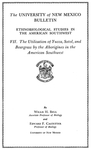 The utilization of yucca, sotol, and beargrass by the aborigines in the American Southwest by Willis Harvey Bell and Edward Franklin Castetter
