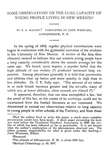 Some observations on the lung capacity of young people living in New Mexico by F. S. Maltby and John Weinzirl