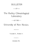 Observations on soil moisture in New Mexico from the hygienic viewpoint