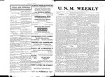 U.N.M. Weekly, Volume 008, No 7, 10/7/1905