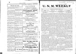 U.N.M. Weekly, Volume 010, No 11, 10/26/1907 by University of New Mexico