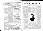 U.N.M. Weekly, Volume 010, No 13, 11/9/1907 by University of New Mexico