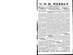 U.N.M. Weekly, Volume 019, No 5, 9/19/1916