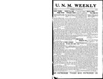U.N.M. Weekly, Volume 019, No 10, 10/24/1916 by University of New Mexico
