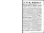 U.N.M. Weekly, Volume 019, No 14, 11/21/1916 by University of New Mexico