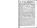 U.N.M. Weekly, Volume 019, No 16, 12/5/1916 by University of New Mexico