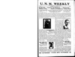 U.N.M. Weekly, Volume 019, No 18, 12/19/1916