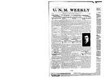 U.N.M. Weekly, Volume 023, No 1, 9/22/1920