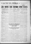 La Voz del Pueblo, 08-10-1918 by La Voz Del Pueblo Publishing Co.