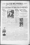 La Voz del Pueblo, 03-29-1919 by La Voz Del Pueblo Publishing Co.