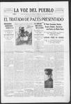 La Voz del Pueblo, 05-10-1919 by La Voz Del Pueblo Publishing Co.