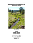 Water Resources Assessment of the Rito Peñas Negras